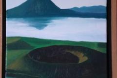 Islande lac Mivatn